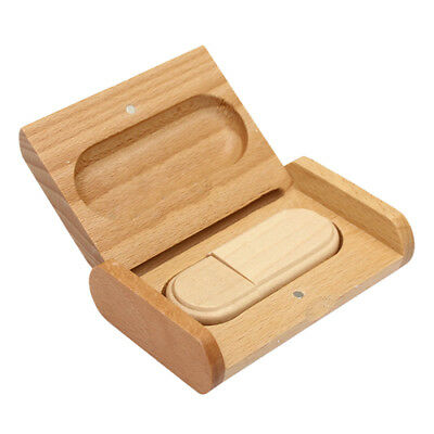 Wooden USB 2.0 Drive Memory Flash Stick Pen Storage U Disk with Wood Case K1J7