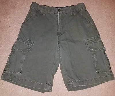 Youth Official Boy Scout Canvas Uniform Cargo Shorts Size 14