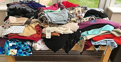 Huge Joblot x 90 Items Ladies Clothing New & Used Tops Dresses Jackets etc