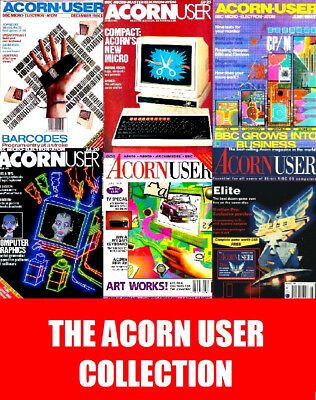 ACORN USER MAGAZINE COLLECTION 267 Issues on 5 DVD PDF Retro Gaming Magazine