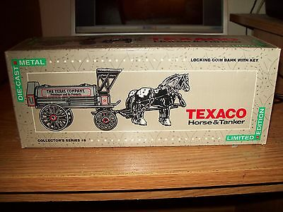 1991 Limited Edition Texaco/Ertl Horse & Tanker Bank~#8 In Series~New In Box!!