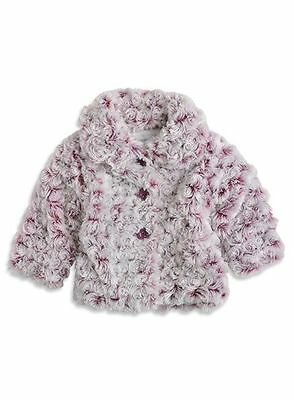 Baby Girls Pumpkin Patch Fluffy Marbled coat jacket and hat  Size 0 for 6-12mths