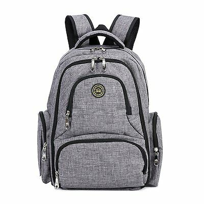 Baby Diaper Bag Waterproof Travel Diaper Backpack with Changing Pad and Stroller