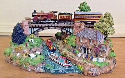 The River Crossing, Country Lines collection,  Danbury Mint, boxed with cert.