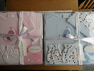 baby boy girl newborn 4 piece set gift pink & blue  Kris x Kids - 0-3 months