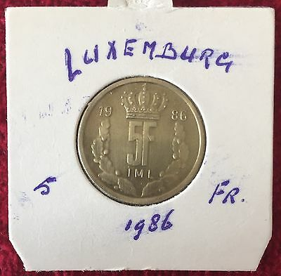 Luxemburg Luxembourg 5 Francs 1986