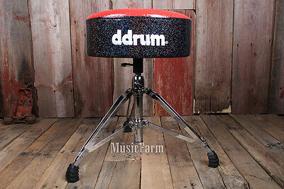 Ddrum Mercury FAT MFAT RB Red and Black Sparkle Vinyl Double Braced Drum Throne