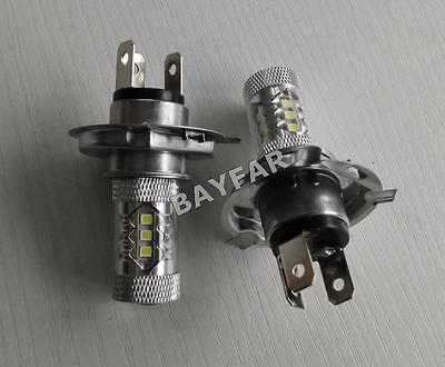 2x Scooter Motorcycle Auto 12-24V 80W H4 16 LED High Power Fog light Lamp Bulb