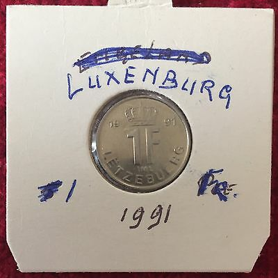 Luxemburg Luxembourg 1 Francs 1991