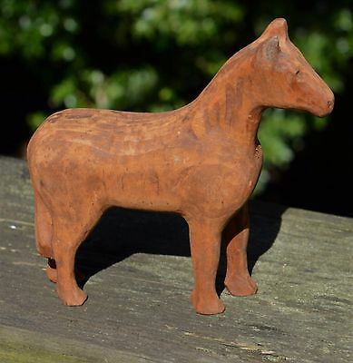 Folk Art antique wood carved horse ca 1940 Found in Pennsylvania