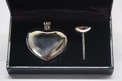 Rare TIFFANY & Co. 925 Sterling Heart-shaped Perfume Bottle Dabber Funnel W/ Box