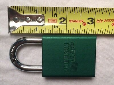AMERICAN LOCK LOT OF 4 LOCKS A1100GRN Lockout Padlock, KD, Green