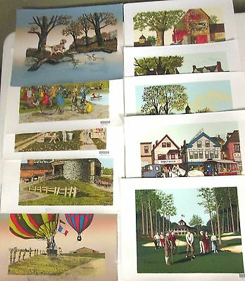 H. Hargrove (10) Assorted 8 X 10 Serigraphs for one price $30.00