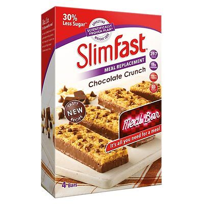 SlimFast Chocolate Crunch Meal Replacement Bars, 16 x 60g