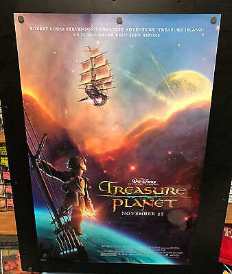 Walt Disney TREASURE PLANET Movie Poster 27x40 One Sheet **2-Sided