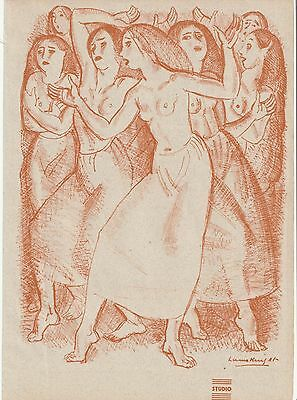 Original Coloured Lithograph - The Unwise Ones 1933 by DAME  LAURA  KNIGHT  RA