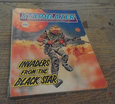 ** Offers Welcome** Vintage StarblazerComics No 87 Invaders From The Black Star