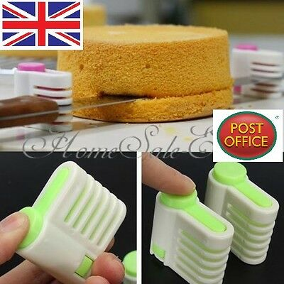 1 Pair Practical 5 Layer Cake Bread Cutter Leveler Slicer Cutting Fixator Tools