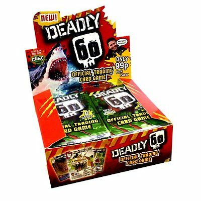 DEADLY 60 - Green Pack Trading Cards Packs x 10 Very Rare and Collectible