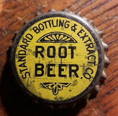 STANDARD ROOT BEER soda bottle cap solid cork unused
