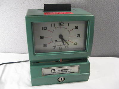 Acroprint Time Clock Recorder ~ Employee Punch Clock ~ WORKS