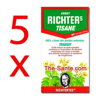Thé RICHTERS Tisane transit lot de 5 boites