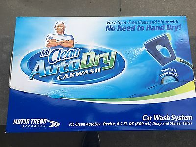 Mr. Clean Autodry Carwash System with Starter Soap and Filter (3 Use) & SprayGun