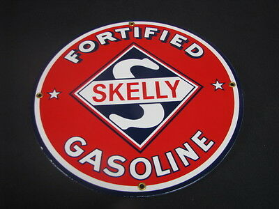 Skelly Porcelain Sign