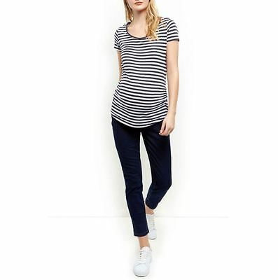 Maternity Navy Under Bump Skinny Jeans - Ex New Look - Size 8 - 20