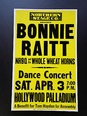 Bonnie Raitt At The  Palladium -  Original Vintage Concert Promotion Poster