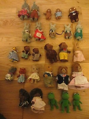 Sylvanian Families Bears X27 Job Lot Bundle Rare Brown Monkey Frog Elephant Etc