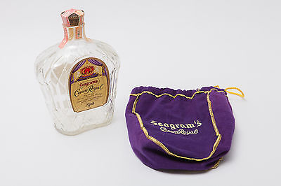 1965 Seagrams Crown Royal Whiskey Empty Bottle vintage Fifth