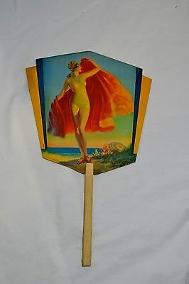 Vintage 7Up Pinup Girl Advertisement Fan Art Deco Hatfield Bell NY