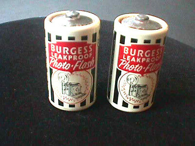 Vintage TWO 1940s-50s Burgess Photo Flash C cell batteries camera collectible