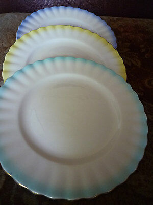 Vintage Royal Albert sideplates Rainbow Montrose pattern set of three