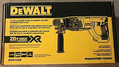 "NEW!! DeWALT DCH133B 20V Max XR 1"" SDS Plus D-Handle Rotary Hammer!!TOOL ONLY!!"