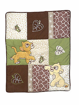 Disney Lion King - GO WILD - Applique Comforter Only - Simba &  Nala