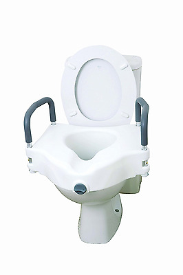 Drive Medical 12027RA 2 in 1 Elevated Toilet Seat with Removable Arms (Eligible