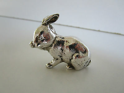 Silver Plated Rabbit / Bunny Miniature..Maker RH..