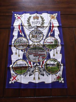 The Queen's Silver Jubilee 1977 Cotton Cloth Britain