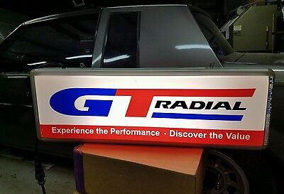 Lighted GT Radial tire sign