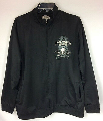 MMA ELITE 2XL Jacket Black Zip Up Jacket Women's Skull Grim Reaper Long Sleeve