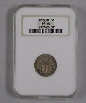1879/8 5 Cent Ngc Pf 66 Very Rare  Only 37 Graded Higher
