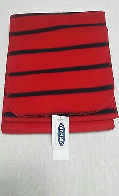 Old Navy Grey and Red or Blue Soft Flannel Stripe Scarf