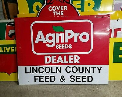 Large Original Dealer  Agripro seed Sign  Farm Seed Feed Gas Oil Barn