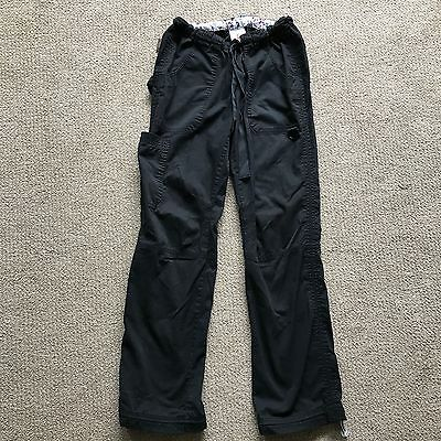 Womens Koi Size S Small Black Cargo Scrub Pants Bottoms