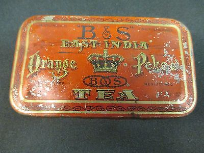 B & S East India Orange Pekoe Tea Tin  3 oz