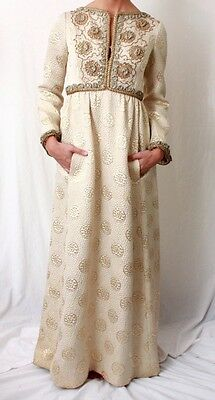 Elinor Simmons Malcolm Starr Brocade Dress Formal Evening Gown 12