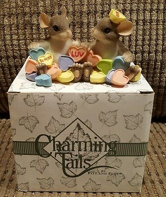 FITZ & FLOYD CHARMING TAILS MOUSE FIGURE You're My Sweetheart 84/116 candy Love