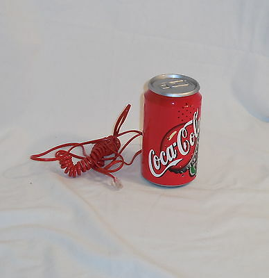 Vintage Coca Cola Coke Can Novelty Telephone Works Great Nm No Box Free Shipping